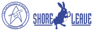 Logos for the Star Trek Association of Towson (left) and Shore Leave (right).